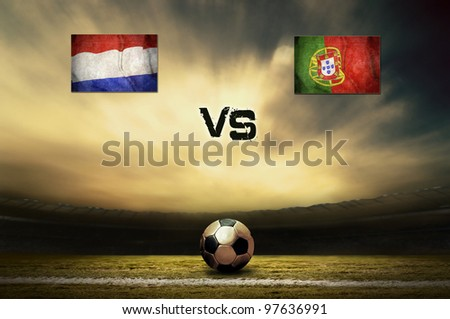 Friendly soccer match between Holland vs Portugal - stock photo