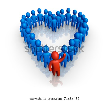 Friendly support - stock photo