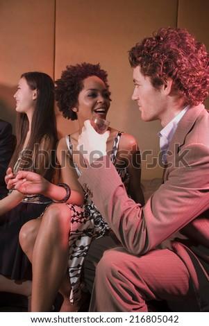 Friends a nightclub. - stock photo