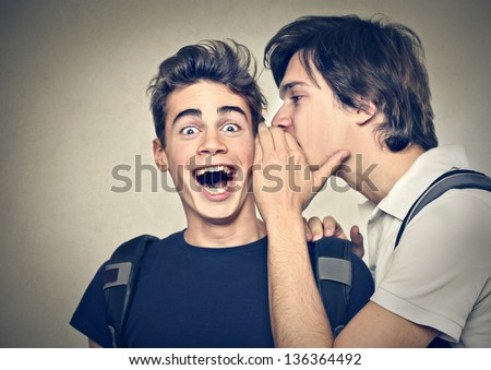 friends confide secrets - stock photo