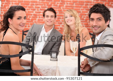 Friends dining - stock photo