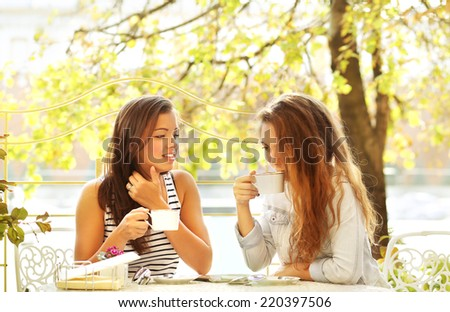 Friends enjoying time together - stock photo