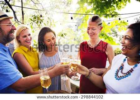 Friends Friendship Party Hanging out Concept