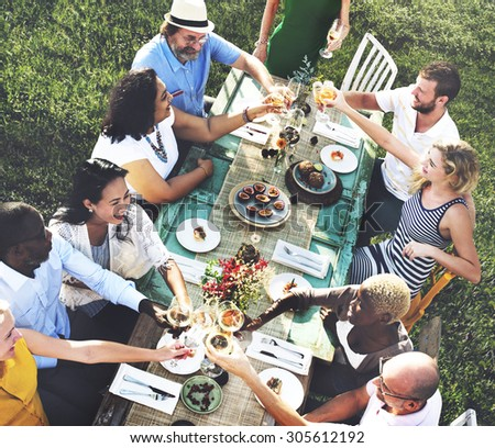 Friends Friendship Party Hanging out Concept - stock photo