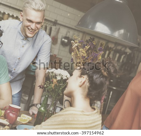 Friends Lifestyle Party Happiness Concept - stock photo