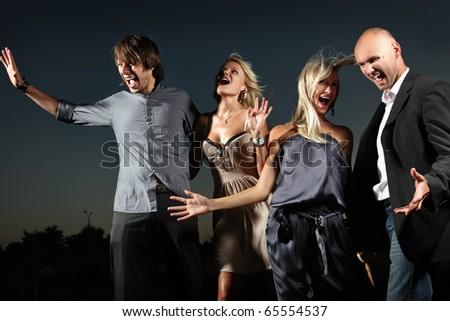 Friends on the party - stock photo