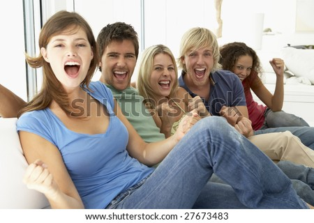 Friends Spending Time Together - stock photo