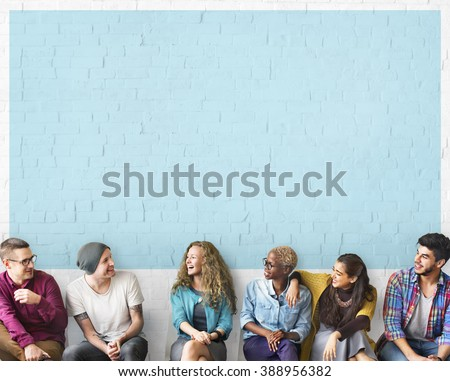 Friends Talking Communication Discussion Unity Concept - stock photo