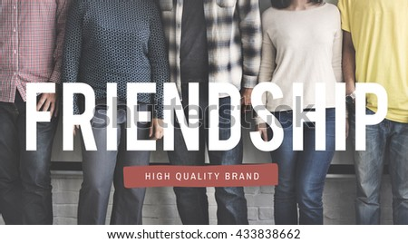 Friendship Bond Happiness Fun Bonding Togetherness Concept