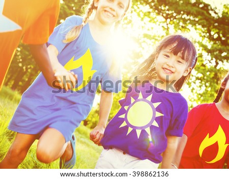 Friendship Children Cheerful Enjoying Concept - stock photo