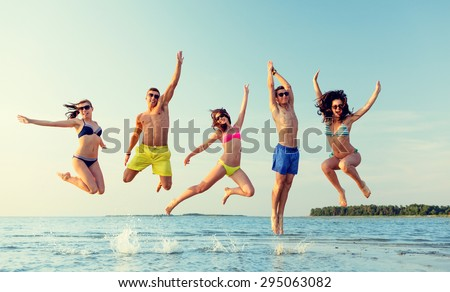 Friendship Sea Summer Vacation Holidays And People Concept