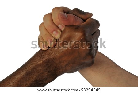 Friendship without ethnic borders - stock photo
