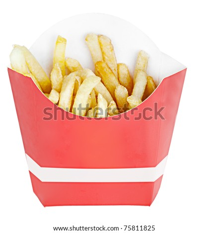 fries isolated on white