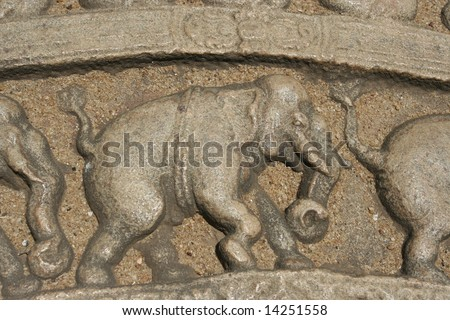 Frieze of Elephants
