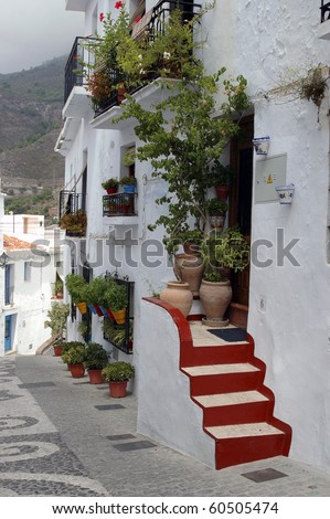 Frigiliana typical image in the Andalusian province of Malaga, Spain