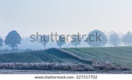froasty distant landscape - stock photo