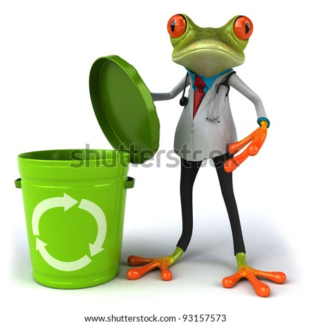 Frog doctor - stock photo