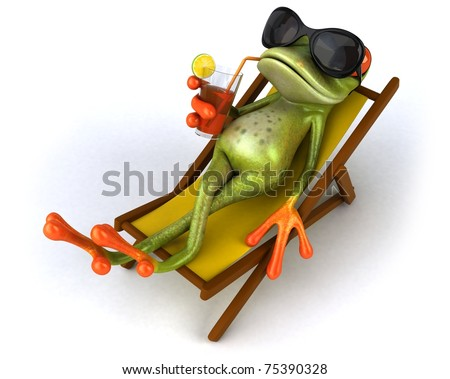Frog relaxing - stock photo