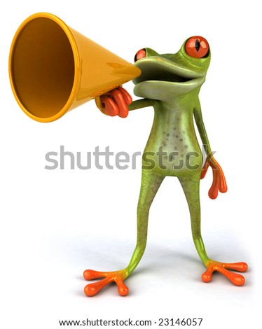 Frog speaker - stock photo