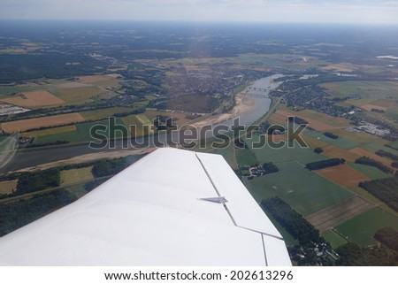 From a plane - stock photo