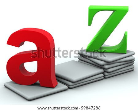 From A to Z - stock photo