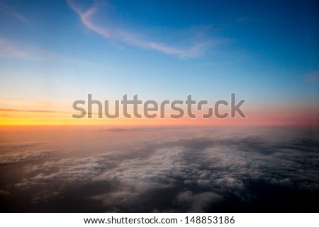 From plane - stock photo