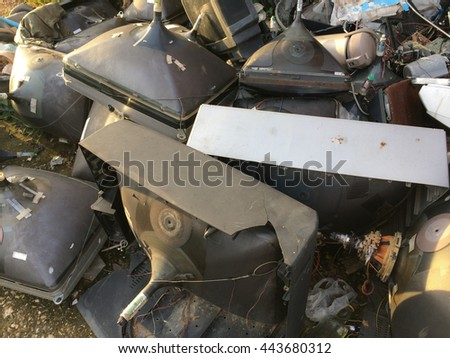 From the best television to the waste thing.unwanted  TV. - stock photo