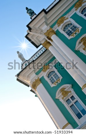 From the 1760s onwards the Winter Palace was the main residence of the Russian Tsars. - stock photo