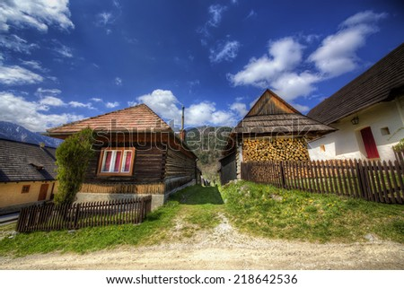 From the Village of Vlkolinec, Slovakia
