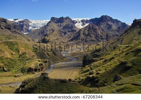From Thorsmork, Icelandic wild nature - stock photo