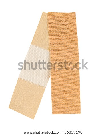 front and back of adhesive bandage - stock photo