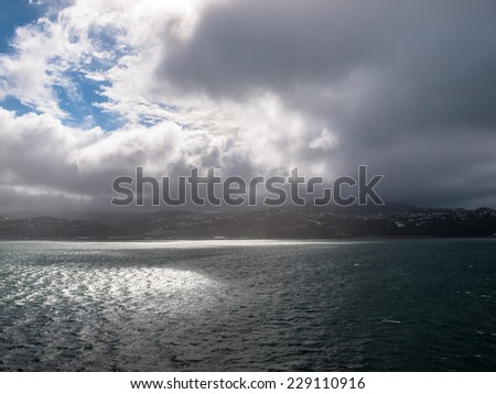 Front coming in over the Sea in North Island, New Zealand