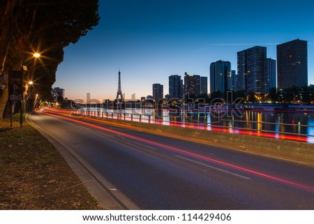 Front de Seine, Paris - stock photo