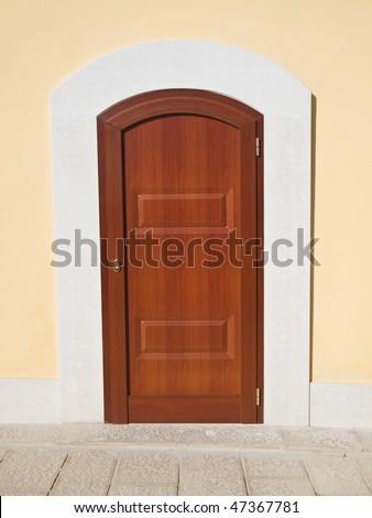 Front door. - stock photo