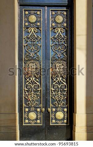 Front Door, Leeds Town Hall - stock photo