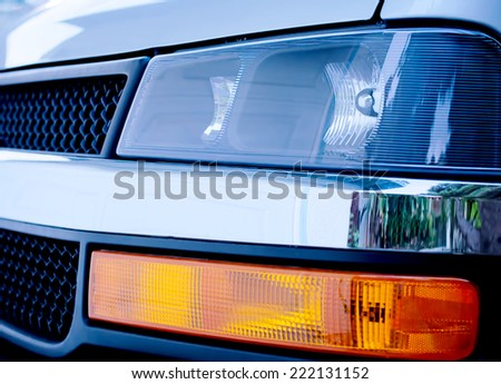 Front End Of a Heavy Duty Truck - stock photo