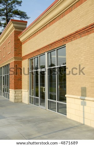 Front Facade of New Commercial Property - stock photo