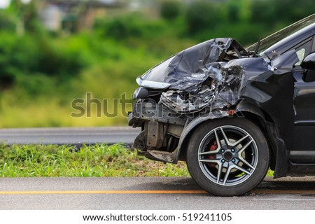 Front Black Car Get Damaged By Stock Photo 519241105 Shutterstock
