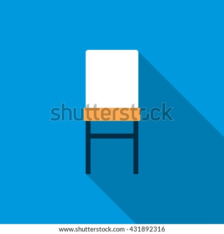 Front of chair icon, flat style