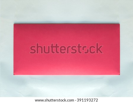 Front of Classic Pastel Pink Envelope with Copy Space to input Text for Wedding Invitation on White Background