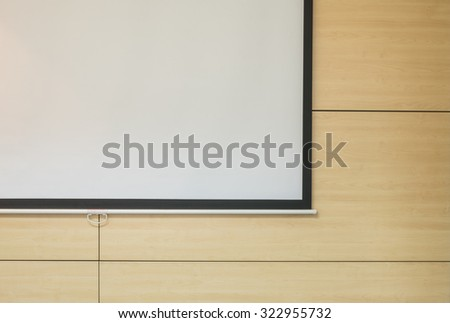 Front of meeting room after finish meeting background - stock photo