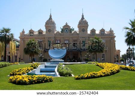 Front of the casino in Monte Carlo, Monaco - stock photo