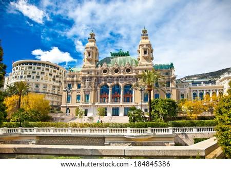 Front of the Grand Casino in Monte Carlo, Monaco. - stock photo