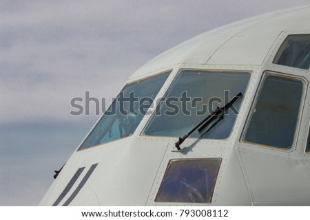 Front of window military airplane