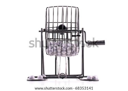 Front Perspective of Bingo Cage Wheel - stock photo