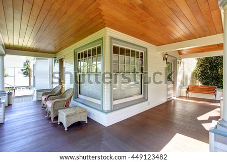 Porch columns stock images royalty free images vectors for Craftsman style columns