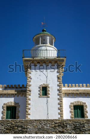 Front view from the Lighthouse of Serifos island, Cyclades, Greece