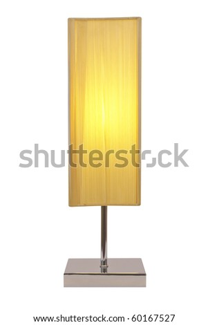 front view lamp isolated white