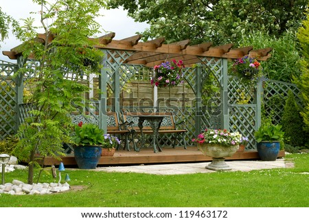 Garden Pergola Stock Images Royalty Free Images Vectors
