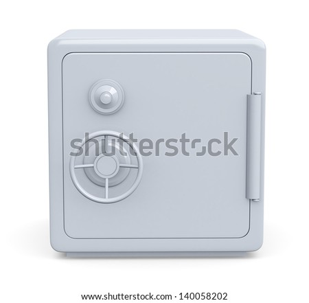 front view of a safe (3d render)
